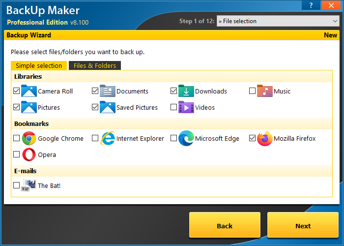 BackUp Maker Standard Edition screenshot