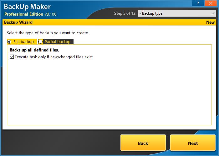BackUp Maker Standard Edition screenshot