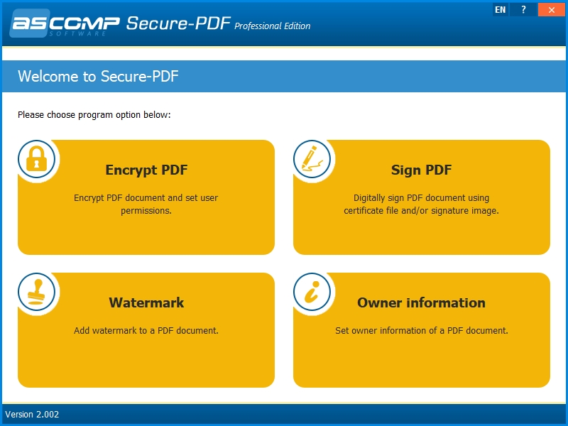 Secure-PDF Professional Edition 2.000 - Software Updates - nsane ...